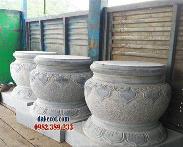 Đá kê cột ĐK 11 - Mẫu chân tảng đẹp dùng để kê cột nhà thờ họ