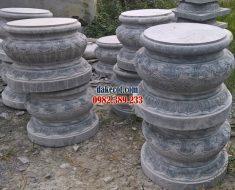 Đá kê chân cột ĐK 12 - Chân cột đá cho cột gỗ nhà thờ từ đường