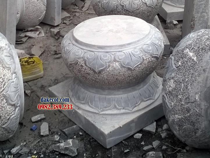 Đá kê cột ĐK 14 - dakecot.com - chân tảng đá