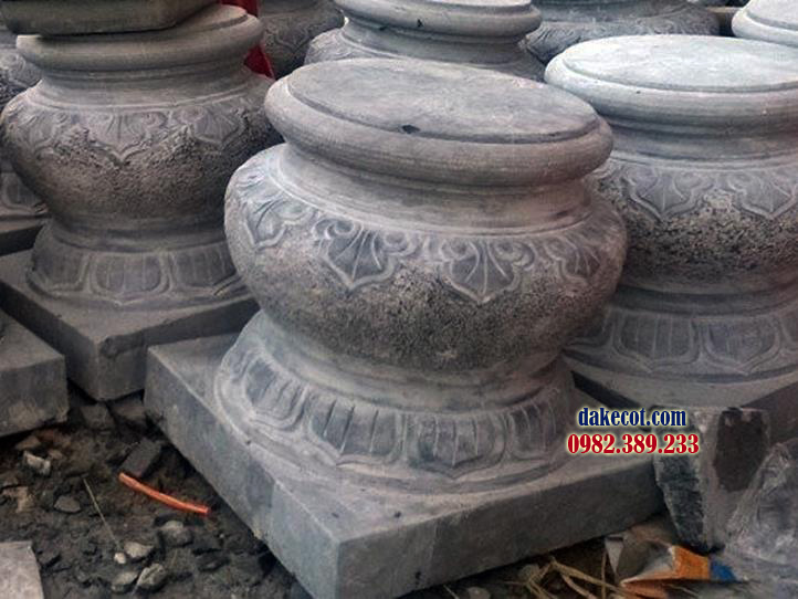 Đá kê cột ĐK 15 - dakecot.com - chân tảng đá
