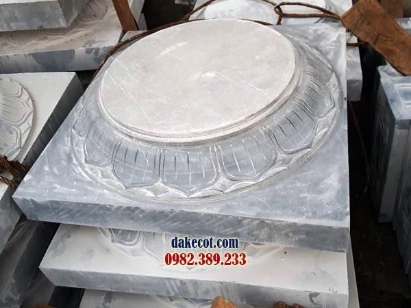 Đá kê cột ĐK 23 - dakecot.com - chân tảng đá
