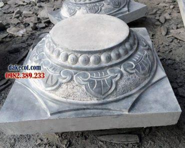 Mẫu chân tảng đá Thanh Hóa ĐK 26 - Làm từ đá khối Thanh Hóa
