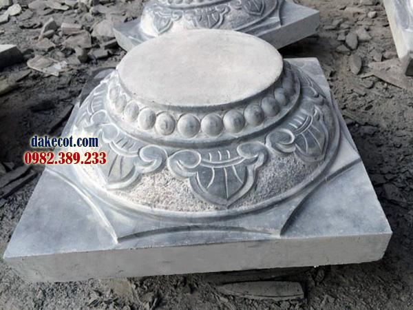 Đá kê cột ĐK 26 - dakecot.com - chân tảng đá