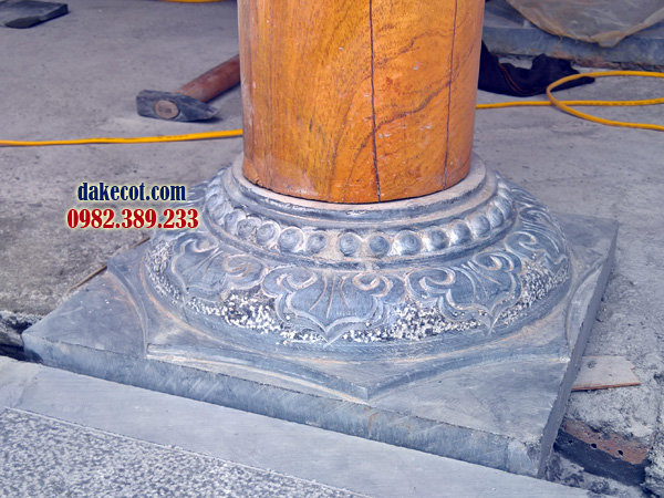 Đá kê cột ĐK 27 - dakecot.com - chân tảng đá