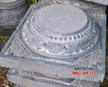 Mẫu chân tảng đá ĐK 04 - Chân cột bằng đá khối giá rẻ bền vững