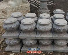 Mẫu chân tảng đá đẹp ĐK 05 - Bán chân cột gỗ bằng đá tinh xảo