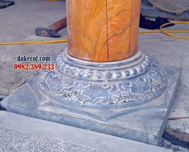 Đá kê chân cột Thanh Hóa ĐK 27 - chế tác bởi thợ đá Ninh Vân Ninh Bình