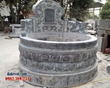 Mẫu mộ tròn đẹp ĐK 12